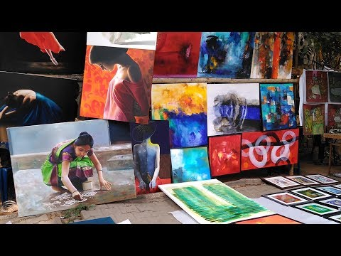 Chitra Santhe - An Art Exhibition At Bangalore, INDIA