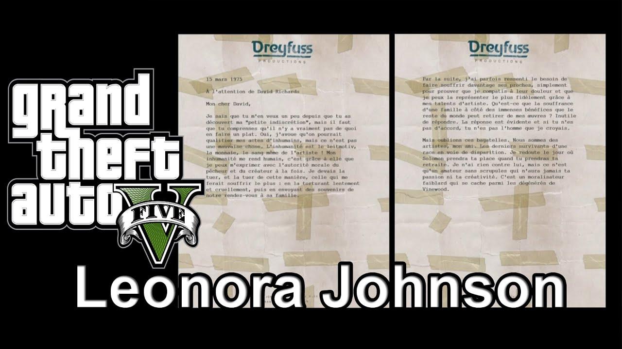 lettre gta 5 GTA 5   Missions secondaires]