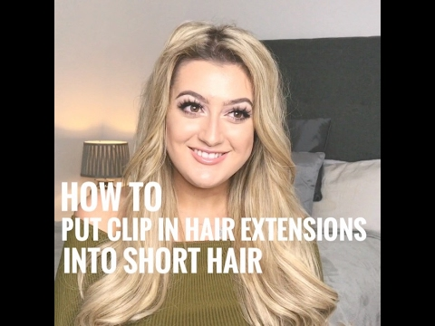 How to put clip in hair extensions into short hair secret hair how to put clip in hair extensions into short hair secret hair extensions uk pmusecretfo Images