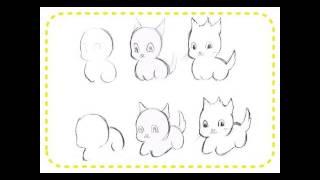 рисуем котят