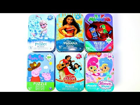 6 Puzzles Moana Frozen Peppa Pig Pj Masks Shimmer & Shine Elena Avalor| Mundo De Juguetes