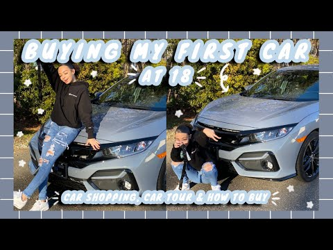 BUYING MY FIRST CAR AT 18!   2020 car tour, car shopping vlog & decorate with me   aliyah simone