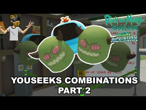 YOUSEEKS COMBINATIONS #2! THE BUG IS FIXED! | Rick and Morty Simulator: Virtual Rick-Ality
