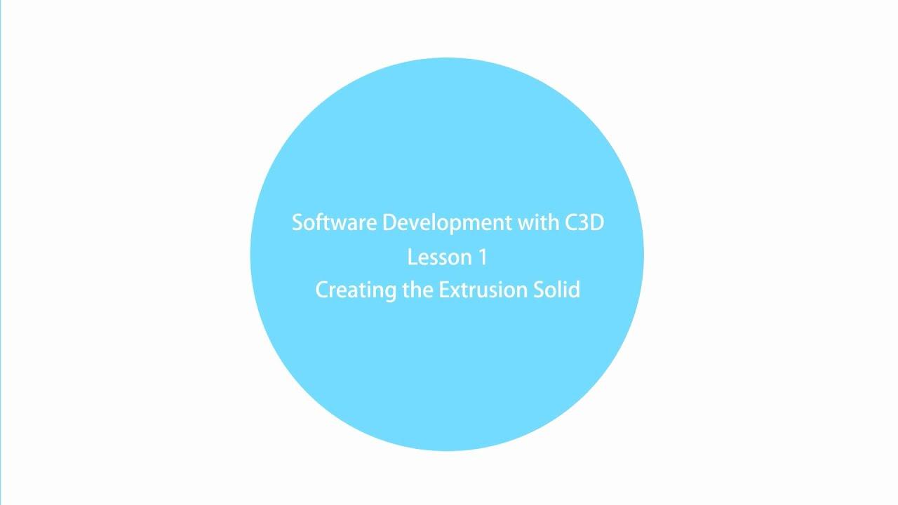 Software Development with C3D Modeler  Lesson 1