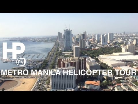 Metro Manila Helicopter Tour Aerial View Manila Bay by HourPhilippines.com