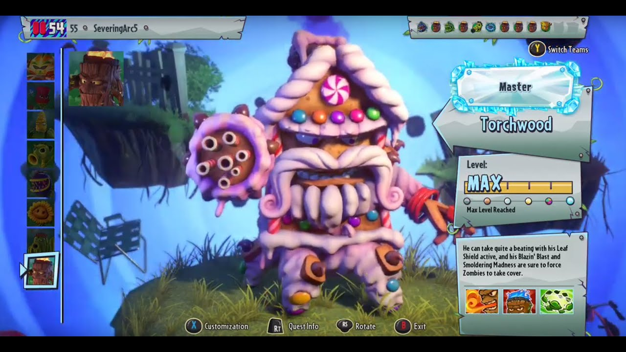 Plants Vs  Zombies: Garden Warfare 2 New Torchwood Costume Variant with  Gameplay