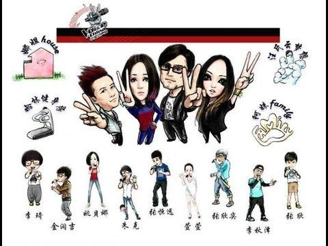 中国好声音第二季导师献唱 + 获得全体导师转身的学员