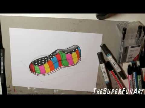 product-design-drawing-:-sneakers