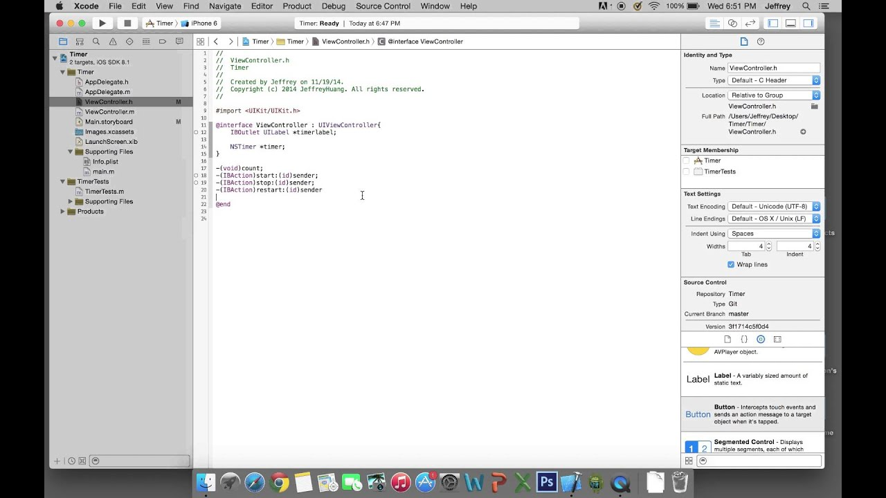 iOS app development: How to make a timer with xcode 6(objective-c)