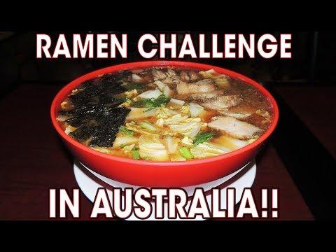 Massive Japanese Ramen Challenge in Sydney, Australia!!
