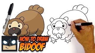How to Draw Bidoof | Pokemon | Step-by-Step Tutorial