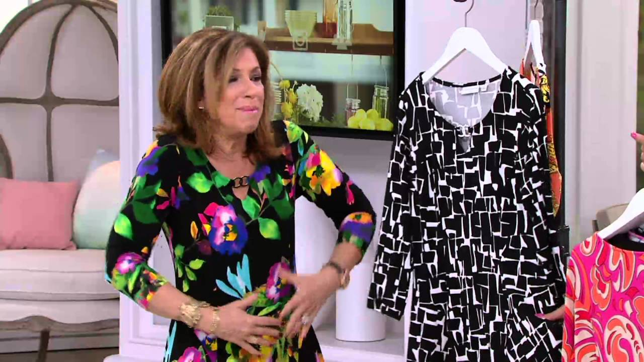 4b999aff1 Susan Graver Liquid Knit Dress with Enamel Detail on QVC - YouTube