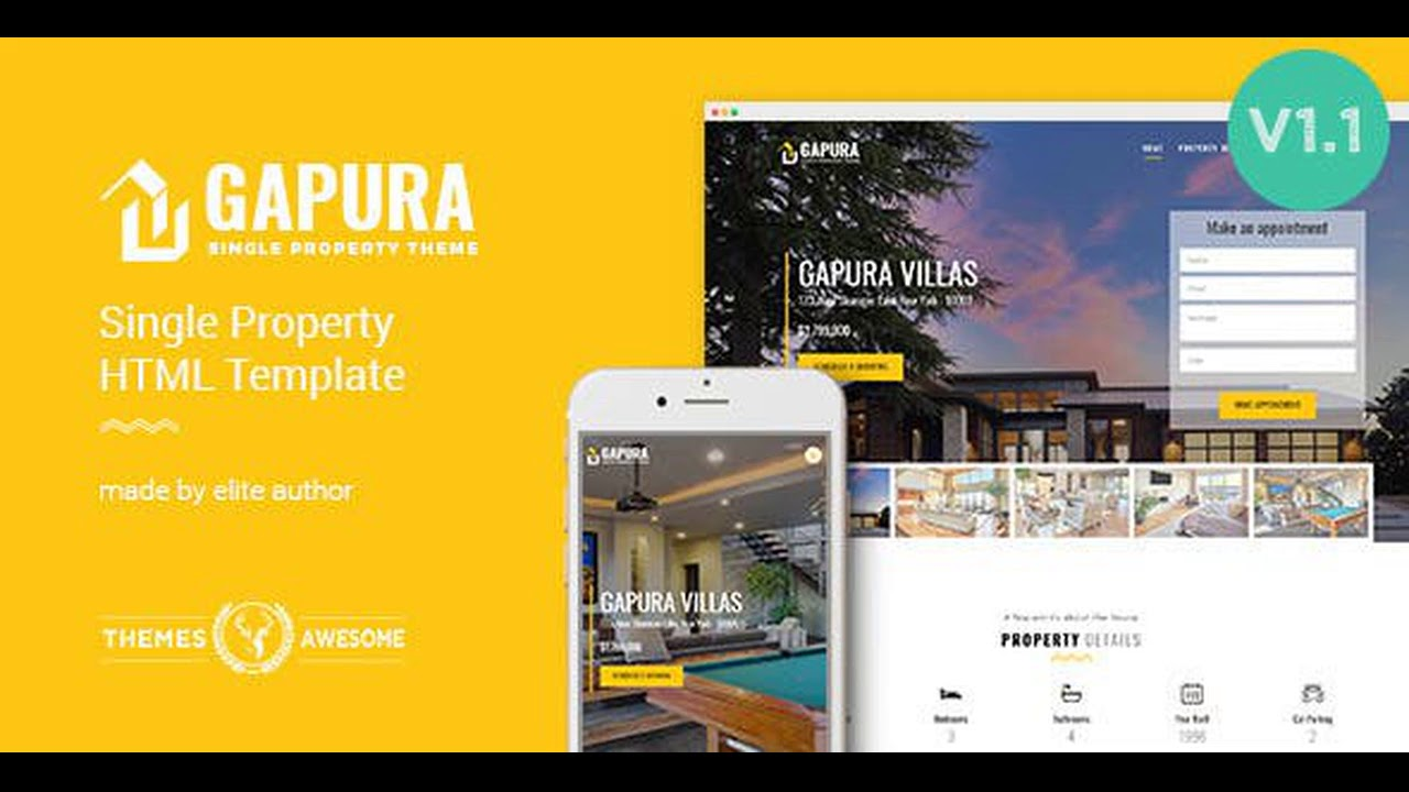 Single Property HTML Template – Gapura Cracked