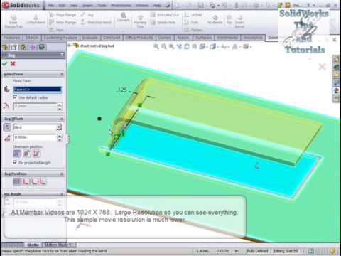 Solidworks Sheet Metal Jog Tool Youtube