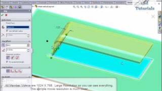 Solidworks, Sheet Metal Jog Tool