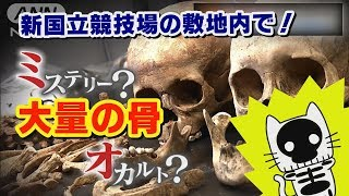 地中から人骨187体、新国立競技場で発見!一体なぜ!? 【マスクにゃんニュース】