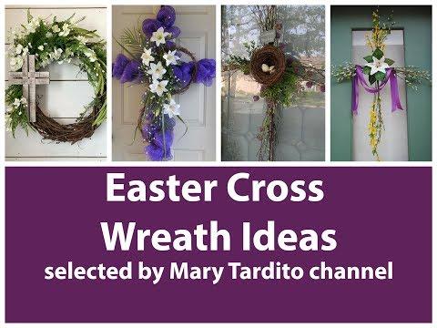 Easter Cross Wreath Ideas - Easter Decorations Ideas – Easter Jesus