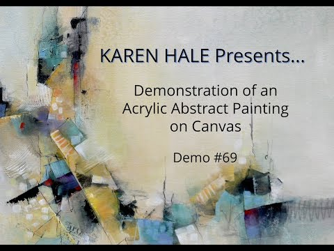 Watch An Acrylic Abstract Painting Demonstration