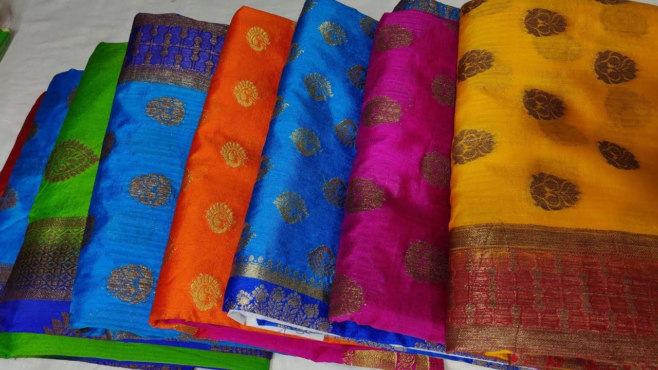 Un-Box of banarus chiniya soft silk sarees||Banarus sarees  wholesale||Banarus sarees with price
