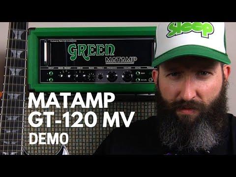 Green Matamp GT120 MV Amplifier Demo - Sleep - From Beyond