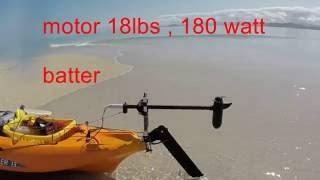 montage d'un moteur électrique sur un kayak