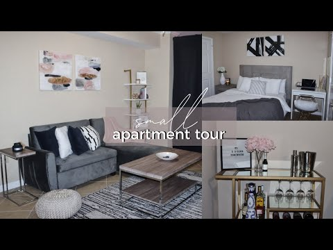 My Small Apartment Tour😭 | AFFORDABLE Minimal + Modern Decor