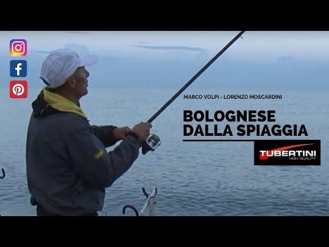 pesca con la bolognese dalla spiaggia