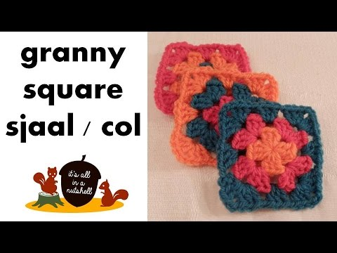 Granny Square Sjaal Of Col Nederlands Dutch Youtube