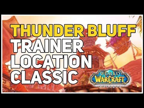 Thunder Bluff Mining Trainer WoW Classic