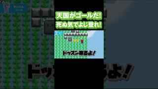 #Shorts 【マリメ2】敵の攻勢は激しいが、かいくぐってテッペンまでよじ登れ!!!