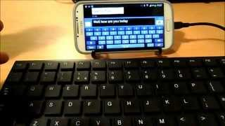 Connecting Android Wireless Keyboard and Mouse to Android Phone - Samsung Galaxy S4