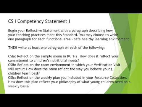 reflective competency statement 2