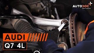 Kaip pakeisti Pasukimo trauklė AUDI Q7 (4L) - vaizdo vadovas