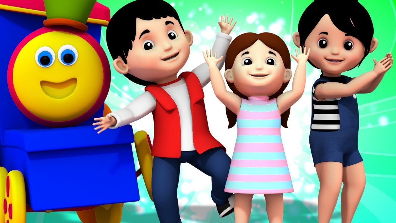 If You Are Happy And You Know It Clap Your Hands Song Bob The Train Kids Tv Youtube