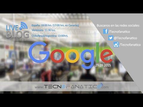 Evento Google 2015 En Vivo Con JoseTecnofanatico