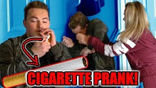 FAKE CIGARETTE PRANK ON FAMILY!