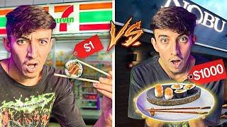 $1 Sushi VS $1000 Sushi... **shocking**