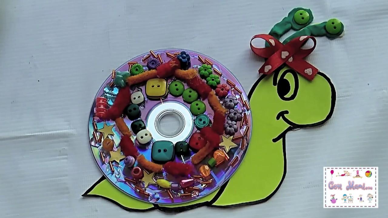 Manualidad Para Preescolar Caracolito Con Disco Youtube