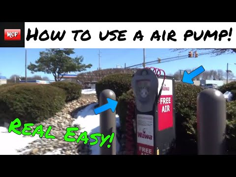 How To Use A Gas Station Air Pump!