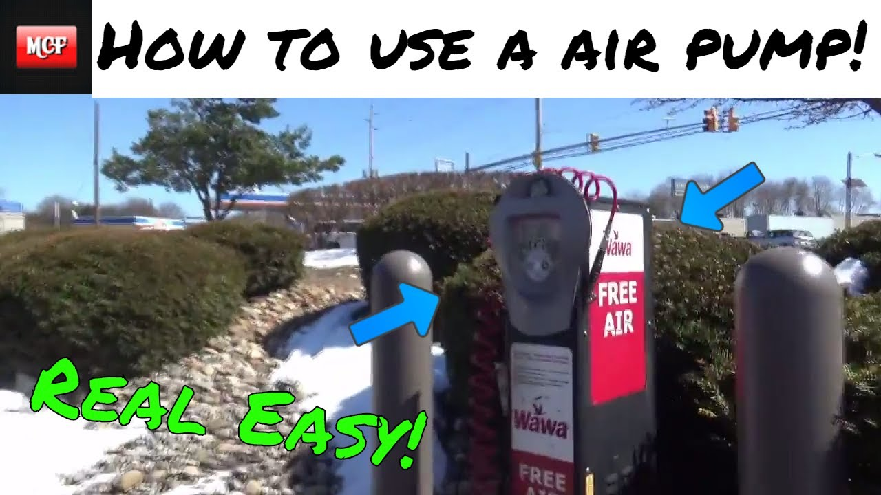 How To Use A Gas Station Air Pump Youtube