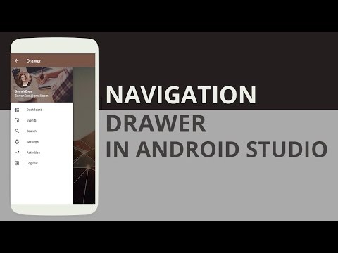 Creating and Designing a Navigation Drawer in Android Studio