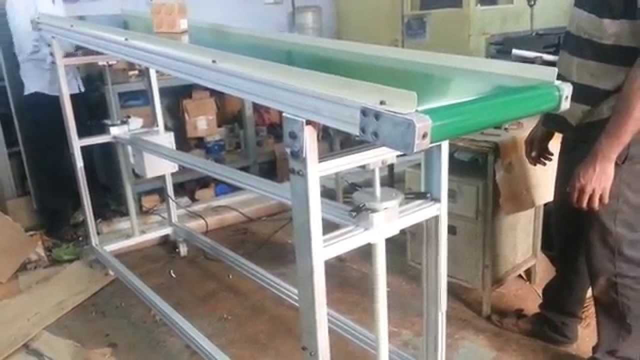 Orange Conveyor Systems Inclined Belt Conveyor With