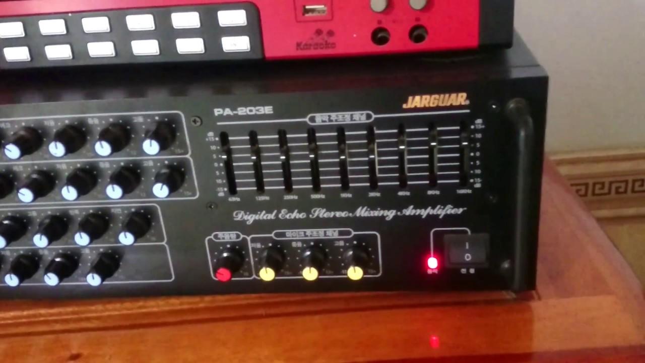 Ghép loa Paramax F1000 vs amply Jarguar 203E Nhật Hoàng (quay bằng đt nên ko dc hay lắm)