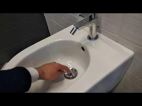 Как открыть колпачек донный клапан в унитаз биде
