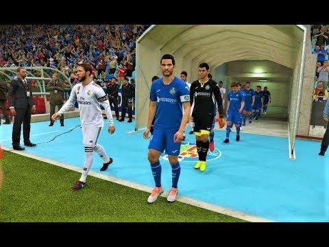 Pes 2019 Getafe Vs Real Madrid Gameplay Pc Youtube
