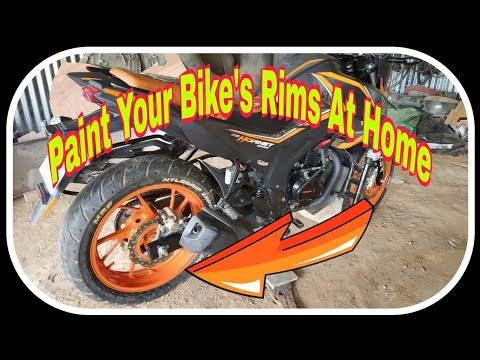 How To Paint Rims/Wheels At Home  Tutorial In Hindi 2018
