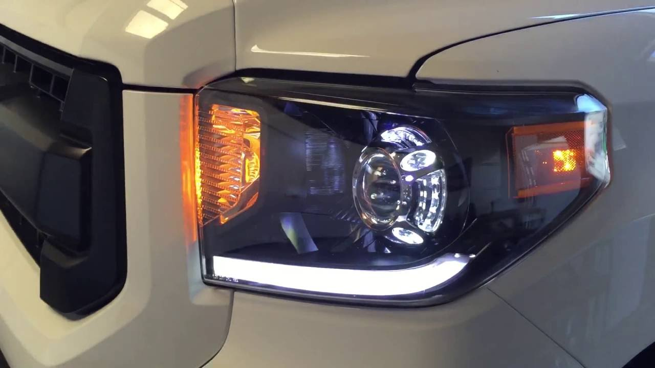 15 Toyota Tundra Projector Retrofit Build W Leds Youtube