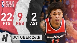 Kelly Oubre Jr. Full Highlights Wizards vs Kings 2018.10.26 - 22 Pts, 2 Ast, 9 Reb!