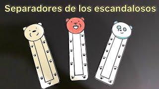3 separadores de los OSOS ESCANDALOSOS / Marcapáginas