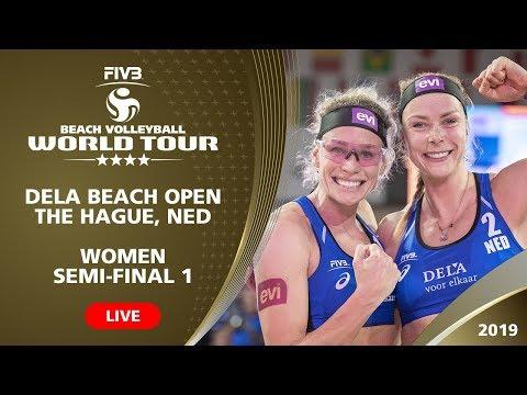 The Hague 4-Star 2019 - Women SF1 - Beach Volleyball World Tour